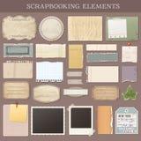 Elementos de Scrapbooking del vector Fotos de archivo