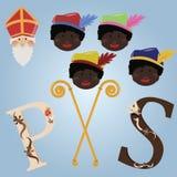 Elementos de Sinterklaas Imágenes de archivo libres de regalías