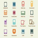 Elementos de Smartphone Imágenes de archivo libres de regalías