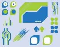Elementos de Techno Imagem de Stock