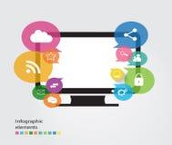 Elementos de tela de computador de Infographic Imagens de Stock