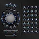 Elementos de UI Fotografía de archivo