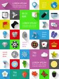 Elementos de Ui, de infographics e de Web Foto de Stock Royalty Free