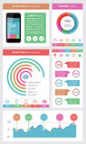 Elementos de Ui, de infographics e de Web que incluem d liso Foto de Stock