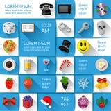 Elementos de Ui, del infographics y del web Fotografía de archivo