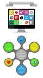 Elementos de Ui, del infographics y del web incluyendo d plana Imágenes de archivo libres de regalías
