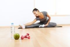 Elementos de um estilo de vida saudável Fotos de Stock