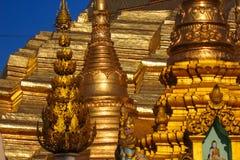 Elementos de um pagode antigo Fotografia de Stock Royalty Free
