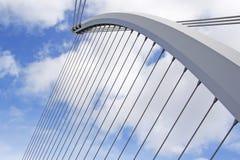 Elementos de uma ponte moderna Fotografia de Stock Royalty Free