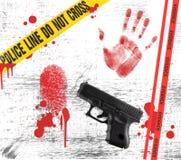 Elementos de un crimen en Grunge stock de ilustración