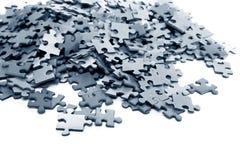 Elementos de un rompecabezas azul foto de archivo libre de regalías