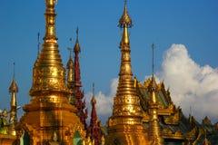 Elementos de una pagoda antigua Imagen de archivo libre de regalías