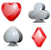 Elementos de vidro do casino Imagem de Stock