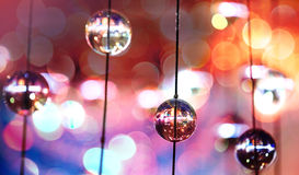 Elementos de vidro do projeto do candelabro moderno Fotografia de Stock