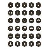 Elementos de Webdesign - sistema del icono Imagen de archivo