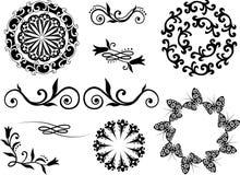 Elementos decorativos Foto de Stock