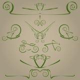 Elementos decorativos Imagenes de archivo
