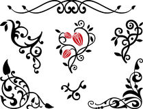 Elementos decorativos ilustração royalty free