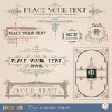 Elementos decorativos Imagem de Stock Royalty Free