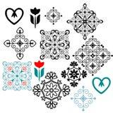 Elementos decorativos Imagen de archivo libre de regalías