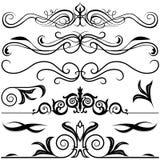 Elementos decorativos A ilustración del vector