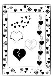 Elementos decorativos abstractos con los corazones Imagen de archivo libre de regalías