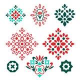 Elementos decorativos aislados Imagen de archivo