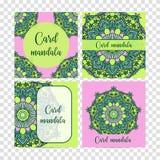Elementos decorativos ajustados do vintage Cartão ou convite, fundo tirado mão Teste padrão oriental, ilustração do vetor islam ilustração stock