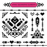 Elementos decorativos astecas fotografia de stock