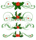 Elementos decorativos. Azevinho Imagem de Stock Royalty Free