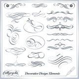 Elementos decorativos caligráficos del diseño Fotografía de archivo libre de regalías
