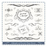 Elementos decorativos caligráficos del diseño Foto de archivo