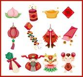 Elementos decorativos chinos del Año Nuevo Imágenes de archivo libres de regalías