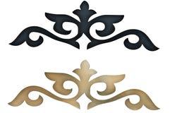 Elementos decorativos cinzelados Imagem de Stock Royalty Free