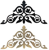 Elementos decorativos cinzelados Imagens de Stock Royalty Free