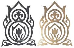 Elementos decorativos cinzelados Foto de Stock Royalty Free