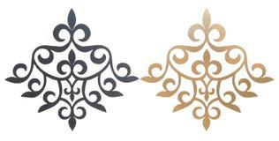 Elementos decorativos cinzelados Fotografia de Stock Royalty Free
