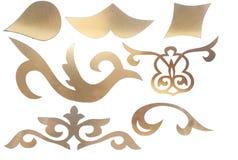 Elementos decorativos cinzelados Fotografia de Stock