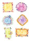 Elementos decorativos coloridos Imagenes de archivo