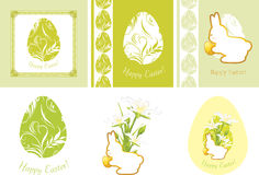 Elementos decorativos da Páscoa para o projeto Fotografia de Stock Royalty Free