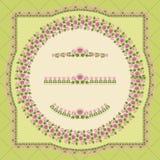 Elementos decorativos de la flor Imagen de archivo libre de regalías