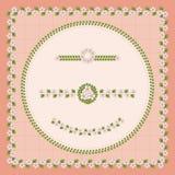 Elementos decorativos de la flor Fotografía de archivo libre de regalías