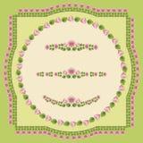 Elementos decorativos de la flor Fotografía de archivo