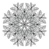 Elementos decorativos de la flor del vintage del vector de la mandala ilustración del vector