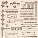 Elementos decorativos de la frontera Imagen de archivo libre de regalías