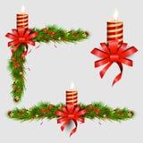 Elementos decorativos de la Navidad Fotografía de archivo libre de regalías