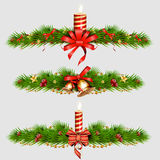 Elementos decorativos de la Navidad Ilustración Imagen de archivo