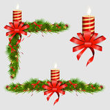 Elementos decorativos de la Navidad Ilustración del vector Imagen de archivo
