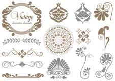 Elementos decorativos de la vendimia Imagen de archivo