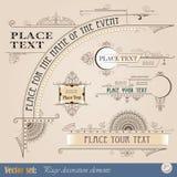 Elementos decorativos de la vendimia Imagen de archivo libre de regalías
